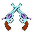 old revolvers icon icon cartoon vector image
