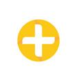 circle health cross logo image vector image
