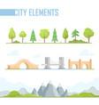 set of city elements - modern cartoon