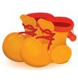 Orange boot pair vector image