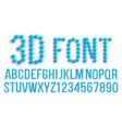 3d pixel font futuristic alphabet abc vector image