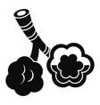 alveolus disease icon simple style vector image vector image