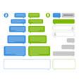 app bubbles chat client speech bubbles frames vector image vector image
