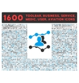 Audience Trends Icon with Large Pictogram vector image vector image