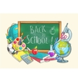 Back to school welcome banner background vector image vector image