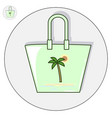 beach bag flat logo and icon vector image vector image