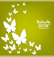 beautiful summer background with white paper vector image vector image