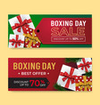 boxing day banner sale templates with gift box vector image vector image