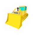 Bulldozer cartoon icon vector image vector image