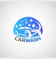 car wash service logo design vector image vector image