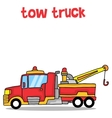 Cartoon tow truck art vector image vector image