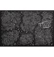 chalkboard doodles cartoon set easter vector image vector image