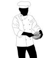 chef preparing food vector image vector image