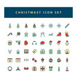 christmas icon set with filled outline style vector image vector image