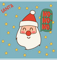 christmas santa claus red hat vector image