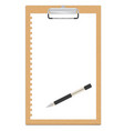 clipboard with a blank sheet of paper vector image vector image