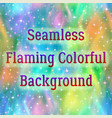 colorful fire seamless pattern vector image