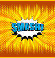 comic smash wording concept vector image vector image