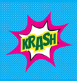 comic speech bubble krash vector image vector image