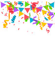 confetti in flat style vector image vector image
