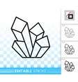 crystal simple black line icon vector image vector image