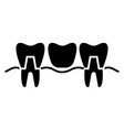 denture icon black sign on vector image vector image