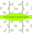 Dinosaurs Set of seamless backgrounds vector image vector image