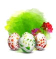 Easter eggs Watercolor paints vector image vector image