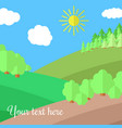 edge of the forest vector image