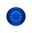 european union flag on the round button vector image