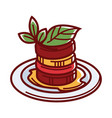 famous french ratatouille with sauce and herbs vector image vector image