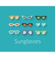 flat set sunglasses vector image vector image