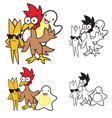 Food Mascots vector image vector image