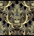 gold baroque 3d seamless pattern modern vector image vector image