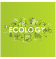 green energy ecology lifestyle recycle icons vector image vector image