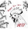 greeting holiday card vector image