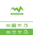 Grunge mountain logo icon vector image vector image