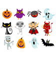 Halloween cartoons vector image