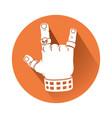 hand in rock gesture symbol vector image vector image