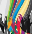hands in air vector image vector image