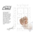 Human hand pointing architecture vector image vector image