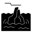 Iceberg icon sign o vector image