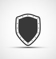 icon metal shield vector image