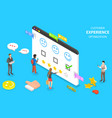 isometric flat concept customer vector image vector image