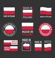made in poland icon set made in poland product vector image