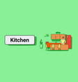 man making dinner cooking food at home modern vector image