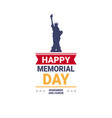 memorial day usa greeting card wallpaper the vector image