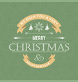merry christmas card with stylish text and vector image vector image