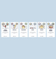 mobile app onboarding screens kitchen appliances vector image vector image