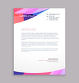 multicolor letterhead design vector image vector image